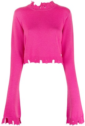 ATTICO Distressed Knitted Jumper