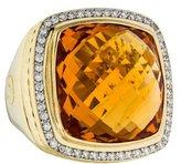 David Yurman 18K Diamond & Citrine Albion Ring