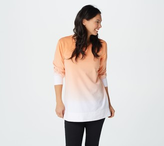 Denim & Co. French Terry Dip Dye Long-Sleeve Tunic