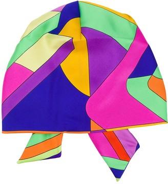 Etro Printed Knot Detail Silk Hat