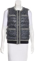 Tory Burch Patterned Puffer Vest