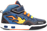 Geox Gregg Flame Leather Trainers 7-11 Years