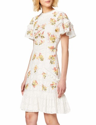 Frock and Frill Women's Inka Lace Embroidered Skater Dress Party