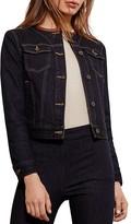 Lauren Ralph Lauren Leather Trim Denim Jacket
