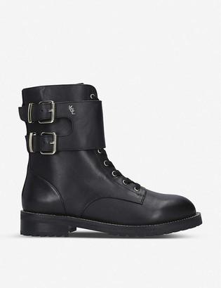 Kurt Geiger Sutton leather biker boots