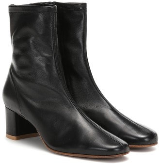 BY FAR Sofia leather ankle boots