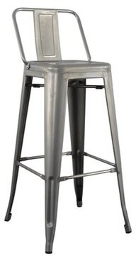 Williston Forge Oakhill Low Back Bar Stool