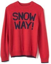 Gap Intarsia graphic crew sweater