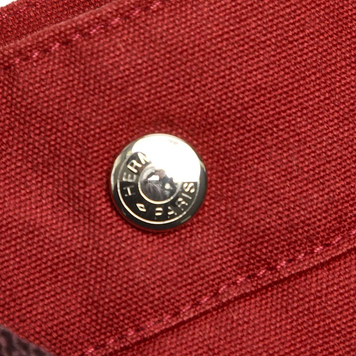 Thumbnail for your product : Hermes Red Canvas Fourre Tout MM bag