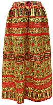 SG Women African Floral Printed Casual High Waist Flared A Line Maxi Skirt