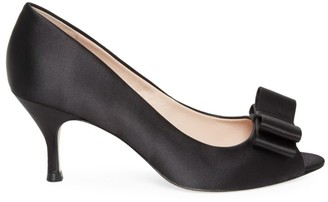 Kate Spade Cecelia Peep-Toe Satin Pumps