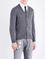 Brunello Cucinelli V-neck wool and cashmere-blend cardigan