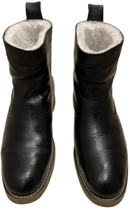 Margaret Howell Black Leather Boots