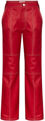 Kirin Leather Straight-Fit Trousers