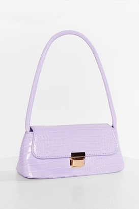 Nasty Gal Womens WANT Long Live Croc and Roll Faux Leather Bag - Purple - ONE SIZE, Purple