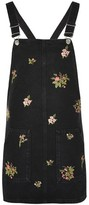 Topshop MOTO Floral Pinafore Dress