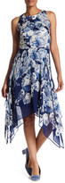 Robbie Bee Printed Fit & Flare Dress