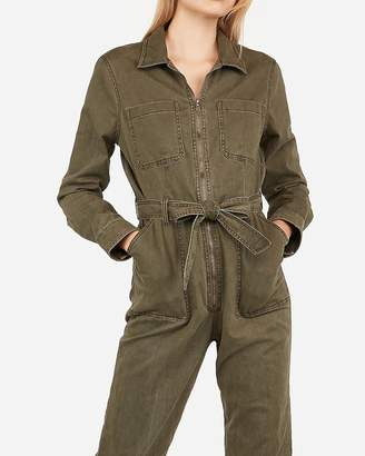 Express Zip Front Twill Boiler Utility Jumpsuit