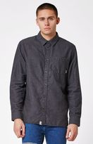 Vans Cardale Flannel Pewter Long Sleeve Button Up Shirt