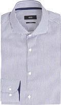 HUGO BOSS Striped slim-fit cotton shirt