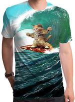 Goodie Two Sleeves Surf's Up Pizza Cat Tee - Men's Regular