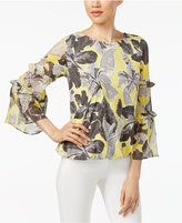 Alfani Petite Ruffle-Sleeve Top, Only at Macy's