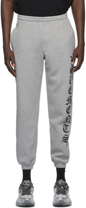 Vetements Grey Gothic Logo Lounge Pants
