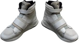 Balmain White Leather Boots