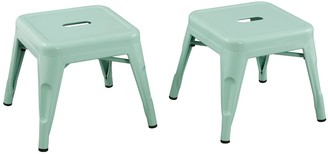 Acessentials Kids Metal Stools 2-Piece Set
