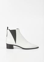 Acne Studios White Jensen Grain Ankle Boot