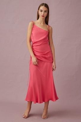 Keepsake BE THERE MIDI DRESS Pop Pink