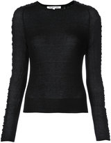 Helmut Lang gathered side-stripe jumper - women - Silk/Nylon - XS