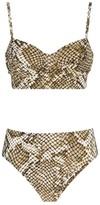 Norma Kamali Python Print Bikini Bottoms