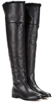 Jimmy Choo Marshall Flat Leather Over-the-knee Boots