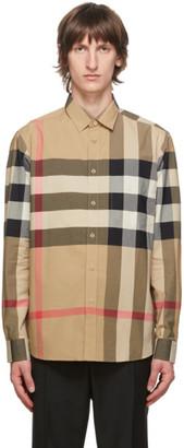 Burberry Beige Check Somerton Shirt