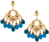 Lydell NYC Golden Double-Drop Pom-Pom Earrings
