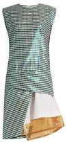 Toga Gingham layered cotton-blend dress