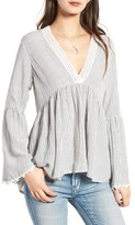 Angie Women's Peasant Blouse