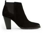 MANGO Suede ankle boots with elastic sides