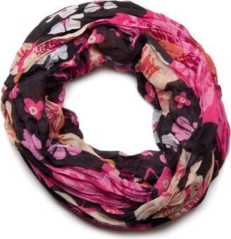 styleBREAKER all over floral print loop tube scarf 01014027