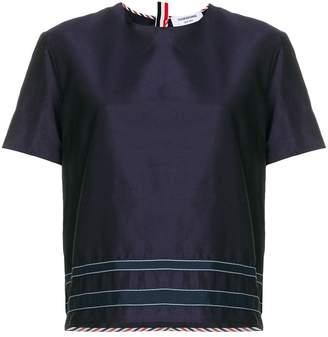 Thom Browne Silk Applique T-shirt