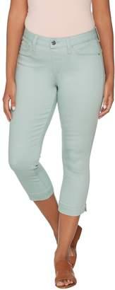 Laurie Felt Power Silky Denim Capri Pull-On Jeans