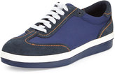 Tommy Bahama Roaderick Suede/Canvas Sneaker, Navy