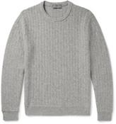 Ralph Lauren Purple Label - Herringbone Cashmere Sweater