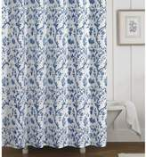 Laura Ashley Charlotte Shower Curtain in Blue