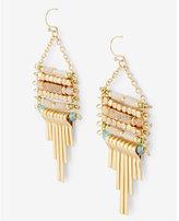 Express bead fringe drop earrings