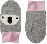 Barneys New York KOALA CASHMERE MITTENS