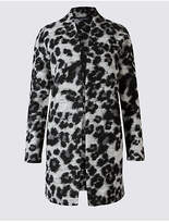 M&S Collection Textured Animal Print Jacket