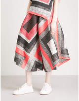 Pleats Please Issey Miyake Union Block wide-leg cropped pleated trousers