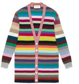 Gucci Oversize striped cashmere knit
